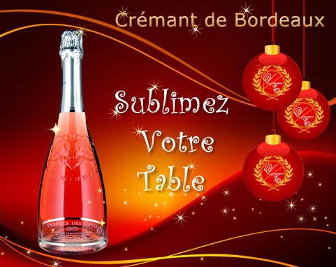 Crémant Rosé de bordeaux Brut AOC -Prestige des Caves