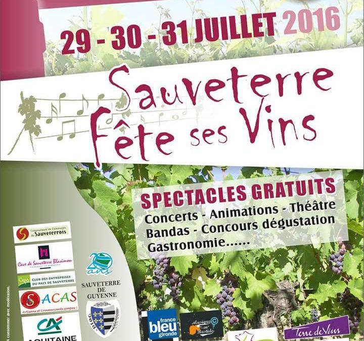 Fête des Vins 29-30-31 Juillet 2016