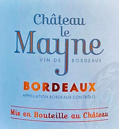 Nouvelle étiquette Le Mayne Bordeaux Rouge