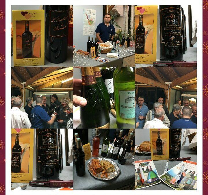 """Dégustation septembre 2018 chez Florian  """"Vins des Vignobles TEILLET JB"""""""