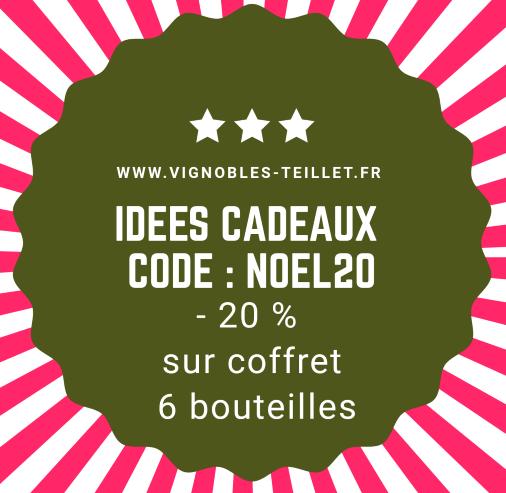 """Code """"NOEL20"""" -20 % réduction sur Coffret -Vins Vignobles TEILLET JB"""